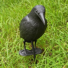Crow Decoy Creative Realistic Black PE Target Decor Hunting Hunting Decoy Yard Pest Garden Fake Bird Hunting