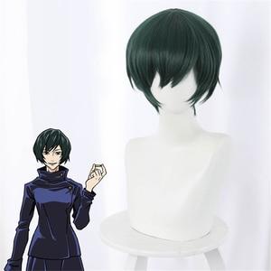 Mantra back to the war, Zen Zhenyi, dark green face short hair cosplay wig Cosplay hairwear Wig+Wig Cap