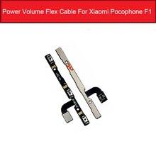 Câble flexible dalimentation et de Volume pour Xiaomi Mi Pocophone F1 bouton interrupteur dalimentation et de Volume câble ruban flexible pièces de rechange