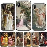 medieval middle ages oil painting phone case for iphone 11 12 mini pro xs max 8 7 6 6s plus x 5s se 2020 xr