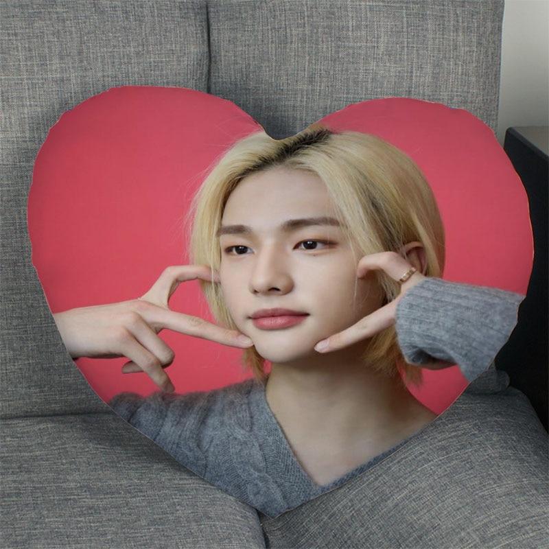 Горячая Распродажа KPOP Hyunjin чехол для подушки в форме сердца