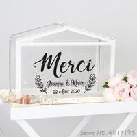 Виниловые наклейки для свадебных открыток и подарков, текстовые имена на заказ, наклейки для свадебных открыток, Индивидуальные Наклейки д...