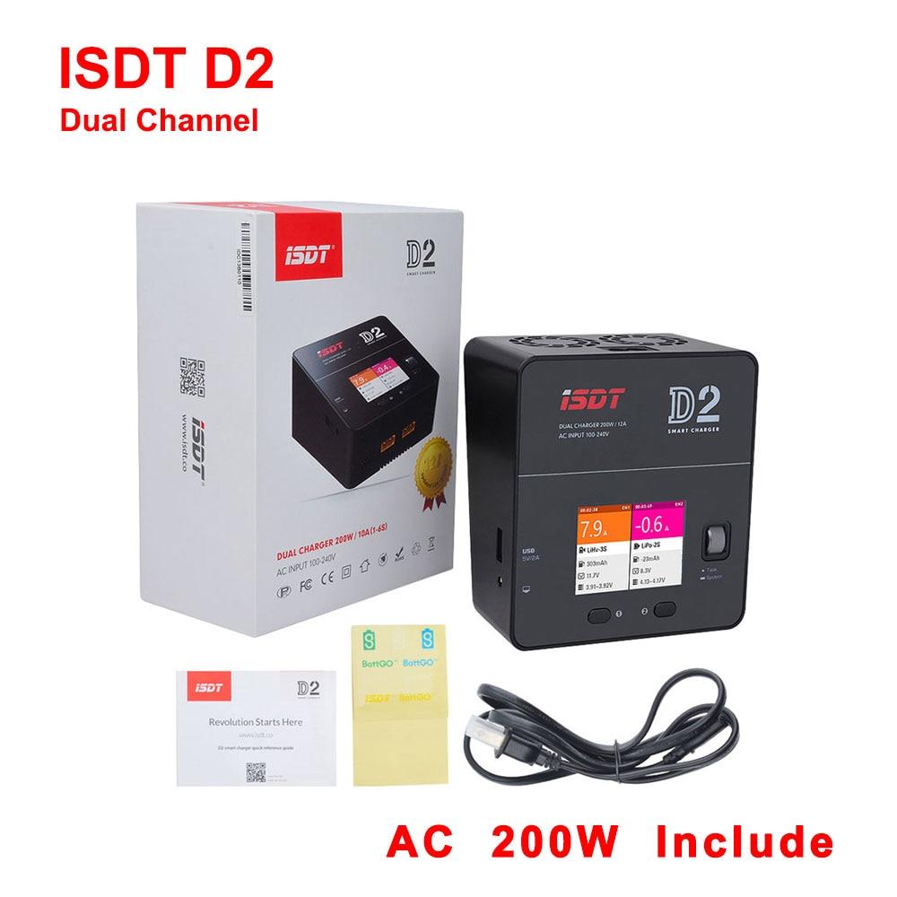 ISDT-شاحن بطارية ثنائي القناة ، ثنائي القناة ، 200 واط ، 12 أمبير ، 2-6S ، لـ Lilon LiPo LiHV NiMH Pb Gaoneng Tattu ، طرازات RC