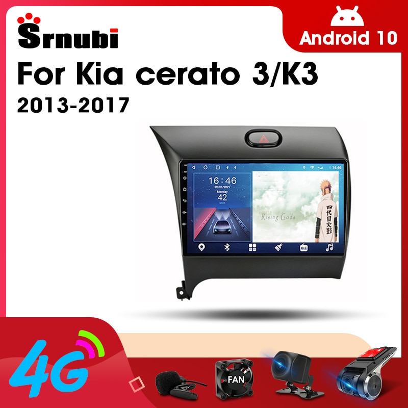 Android 10 2 Din Car Stereo audio Radio for KIA Cerato 3 2013-2017 Multimedia Video Touch Screen Player 4G Wifi Speaker MP5 DVD