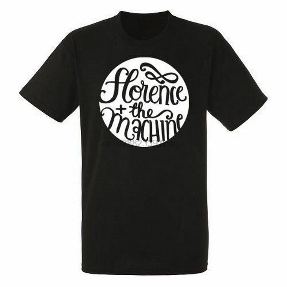 Florence And The Machine, Logo para hombre, camiseta negra Rock, nuevas tallas S-XXXL, ropa de algodón para hombre, Tops, camiseta