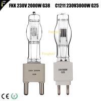 Studio C1206/C1211 FKK CP73 Spotlight Quartz Bulb 230V 2000w/3000w G38/G25 Film TV Spot Light Bulb Tungsten Photography Lamp