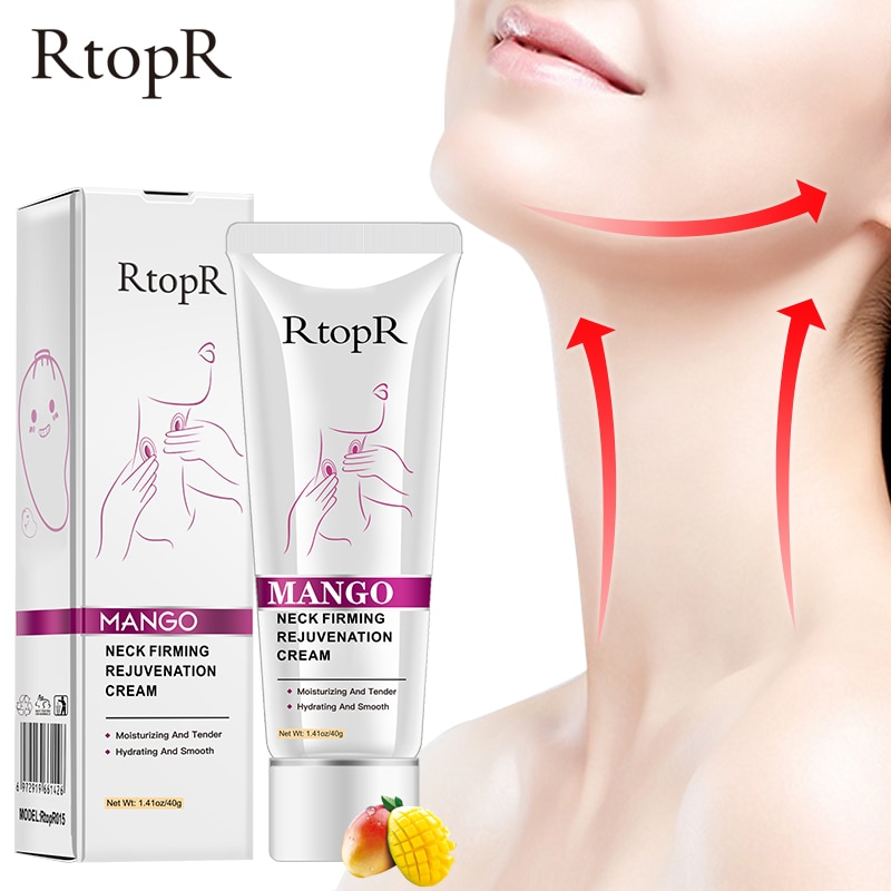 RtopR Neck Firming Wrinkle Remover Cream Whitening Moisturizing V-Shape Massage Beauty Smooth Anti-Aging Nourish Neck Skin Care