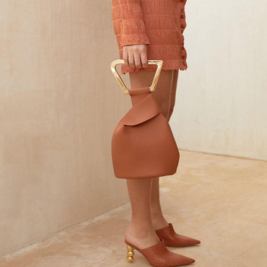 Fashion Acrylic Handle Women's Handbags Designer Brand Female Totes Luxury Pu Lady Hand Bags Summer Irregular Bucket Bags Purses