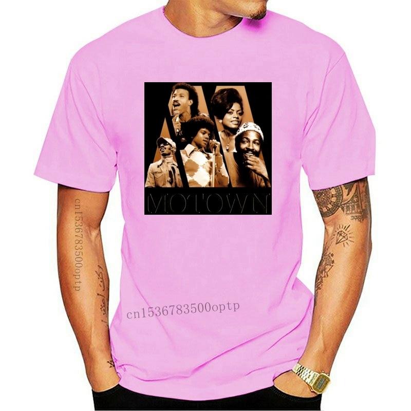 New Motown Michael Jackson Marvin Gaye T-Shirt Size S-2XL Black Color