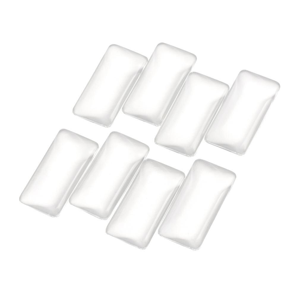 20 piezas rectángulo transparente de cristal transparente cúpula cabujones azulejo de cristal plano de aumento camafeo Base cubierta 38x19x6,5mm