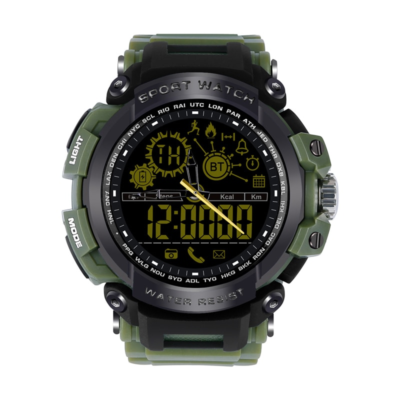 Bluetooth DX16 Military Watch Fashion Sport Riding Diving Run relogio inteligente Smartwatch Waterproof Sports Watches For Men