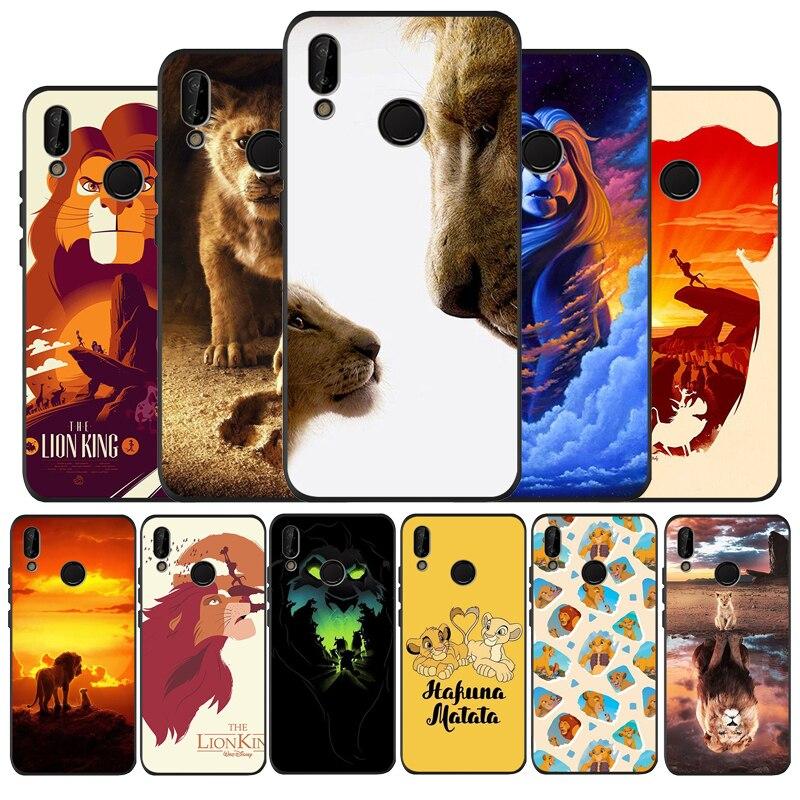 Funda de teléfono de silicona negra blanda The lion king para Huawei P9 P10 P20 P30 P40 lite P20 P30 P40 pro Y9 Y6 P smart 2019