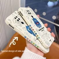 happy monster phone case for xiaomi redmi note 10 10s 9t 9 8 7 pro max redmi 9 9a 9t k40 k30 k20 pro liquid silicone cover