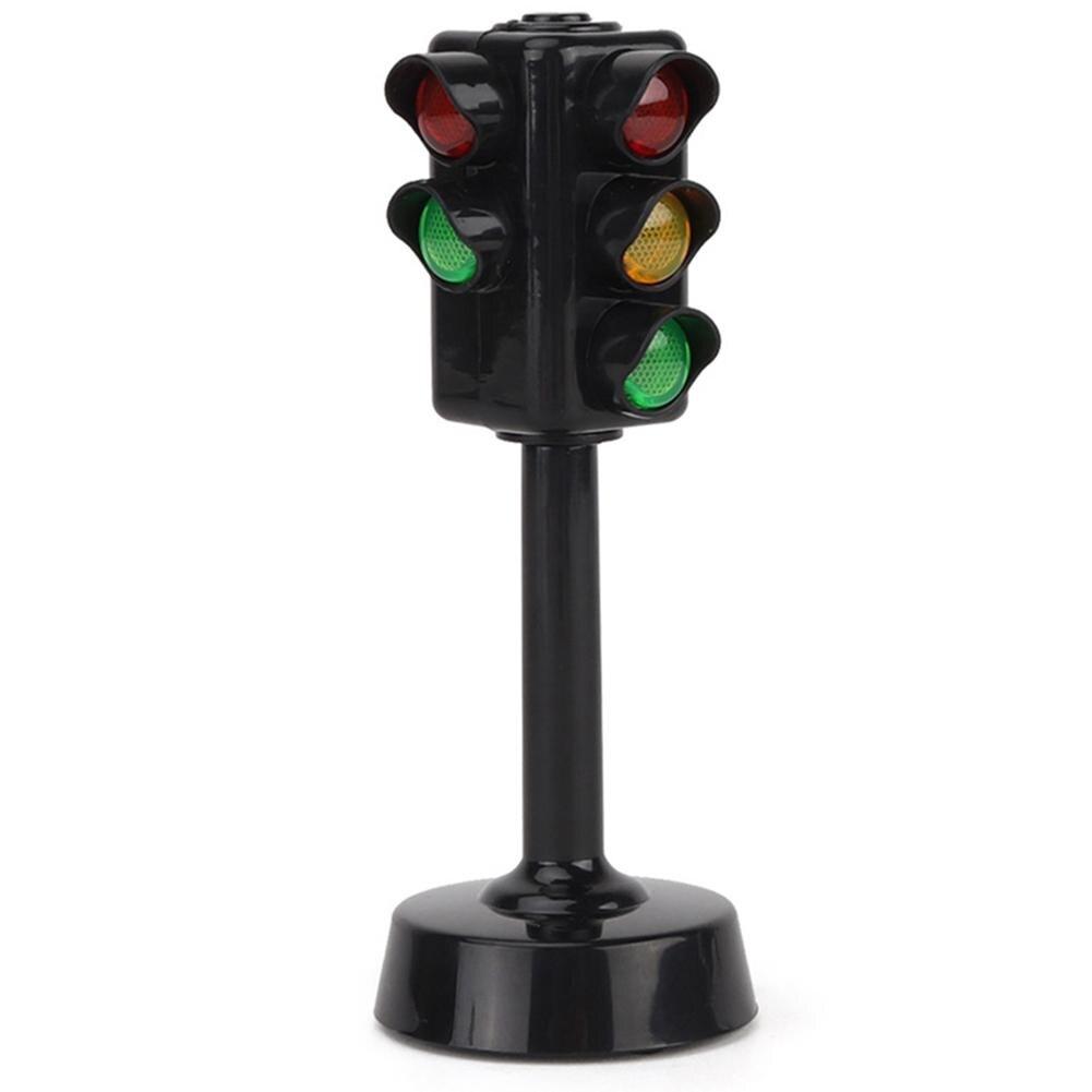 Simulación de Mini señales de tráfico modelo de cámara de velocidad ligera con música LED juguete para juego de imitación Educación Niños juguete niños regalo