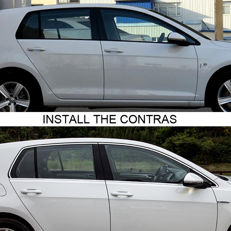 Embellecedor de marco para coche, Accesorios de acero cromado para VW Volkswagen...