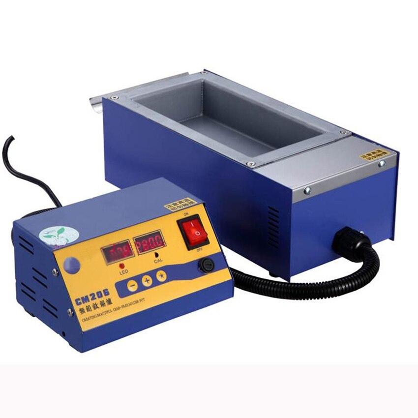 سبليت خالية من الرصاص فرن لحام سم-206 الرقمية عالية الحرارة ذوبان القصدير فرن dip القصدير ديسولديرينغ مضخات 110 فولت/220 فولت
