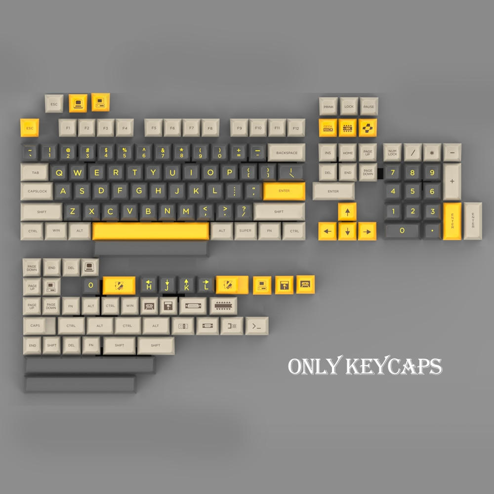 155/104 Keys Sp Ball Cap SA Profile Personalized Green Yellow Screen For Cherry MX Switch Mechanical Keyboard
