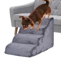 pet stairs step pet 4 layers step non slip dog stairs dog ramp sponge steps for small dogs and cats miniatures washable