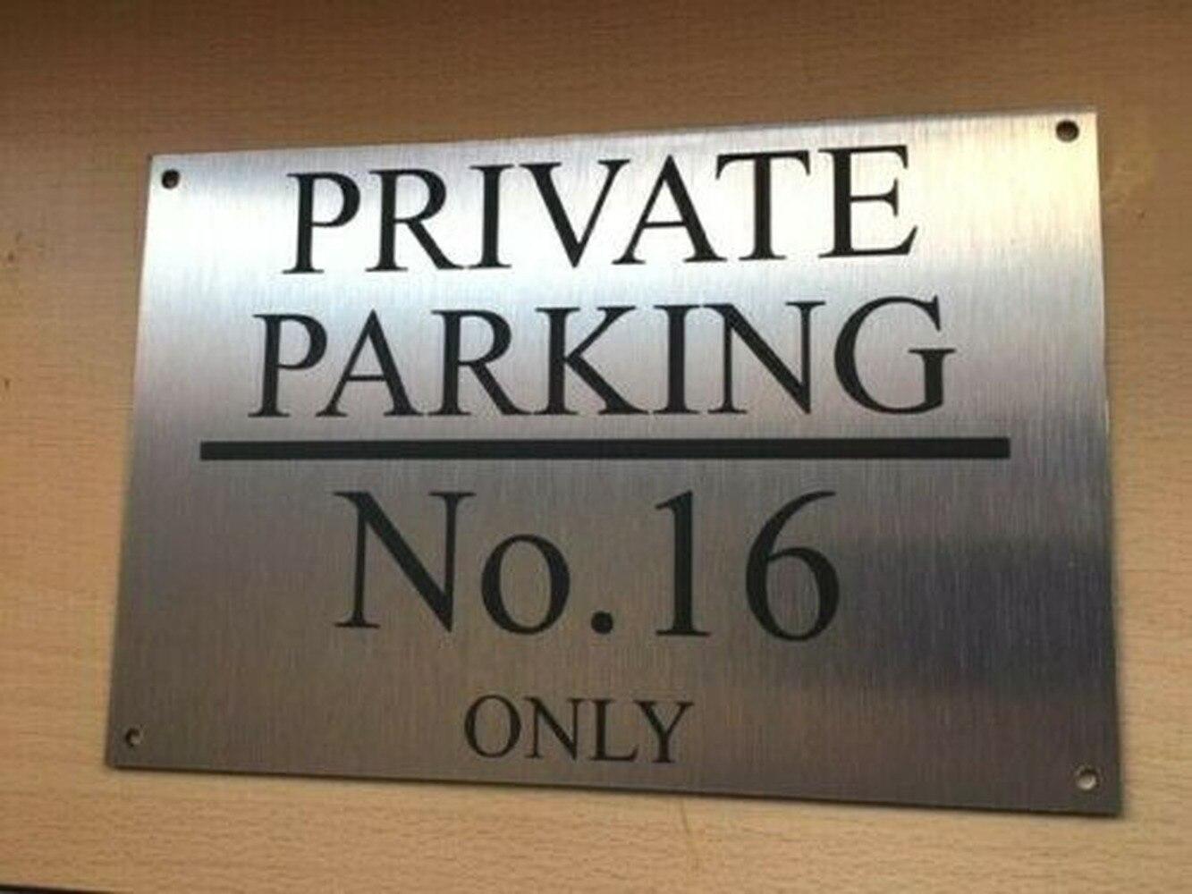 DIY, número de casa personalizado, aluminio cepillado, privado, sin señal de estacionamiento 20*30cm
