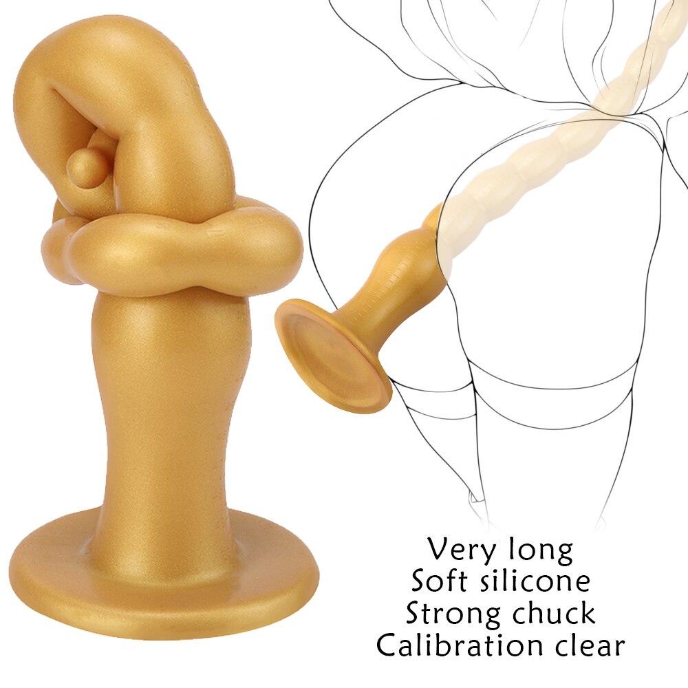 51CM Super Long Anal Toys Large Dildo Butt Plug Prostate Massage Anus Dilator Adult Erotic Sex Toys for Men Woman Big Anal Plug