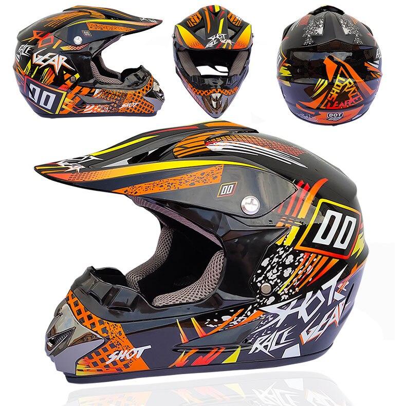 Carreras de accesorios Moto Motocross Modular MTB Casco de la motocicleta de...