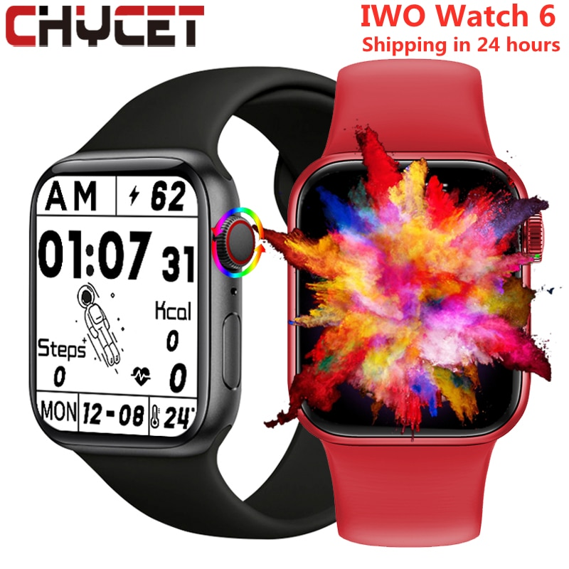 CHYCET Smart Watch Split Screen Display Rotatable Button Smartwatch Men Women Bluetooth Calls Fitnes