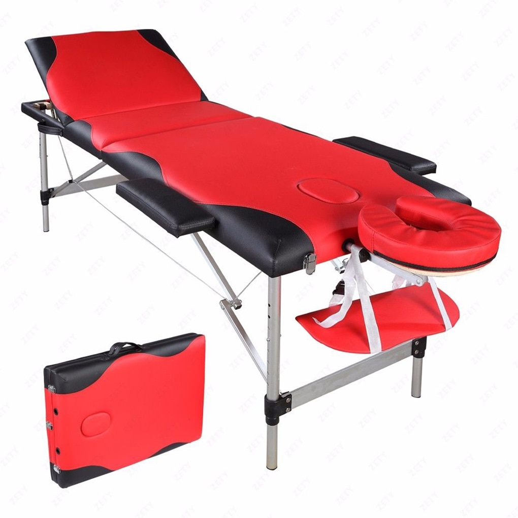 3 secciones tubo plegable de aluminio SPA culturismo ajustable reposacabezas masaje Mesa Kit
