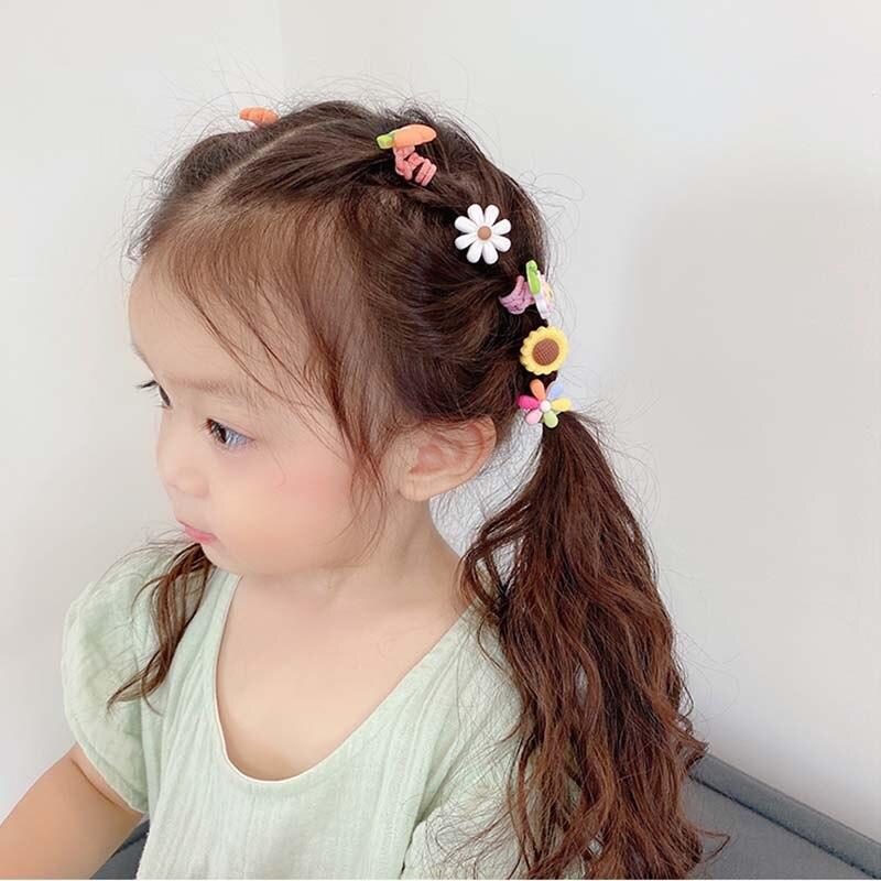 10pcs Girls Hair Accessories  nylon ties Elastic Hair Bands Children Ponytail Holder Rubber Bands Kids Headband gum for hair