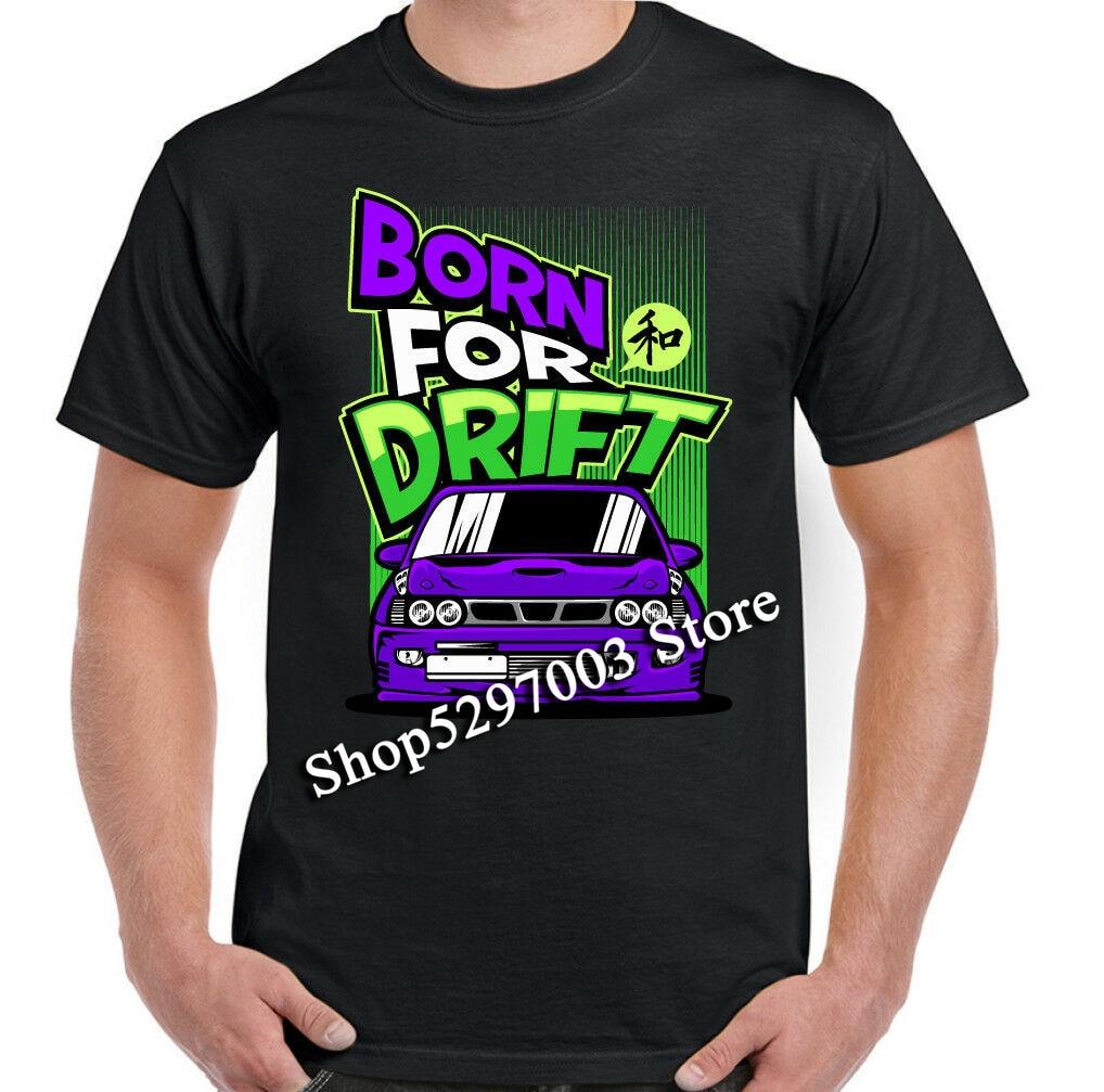 A la deriva camiseta deriva nacido para hombre divertido Jdm coche Ae86 Hot Rod entusiasta de la carrera de los hombres camiseta, ropa