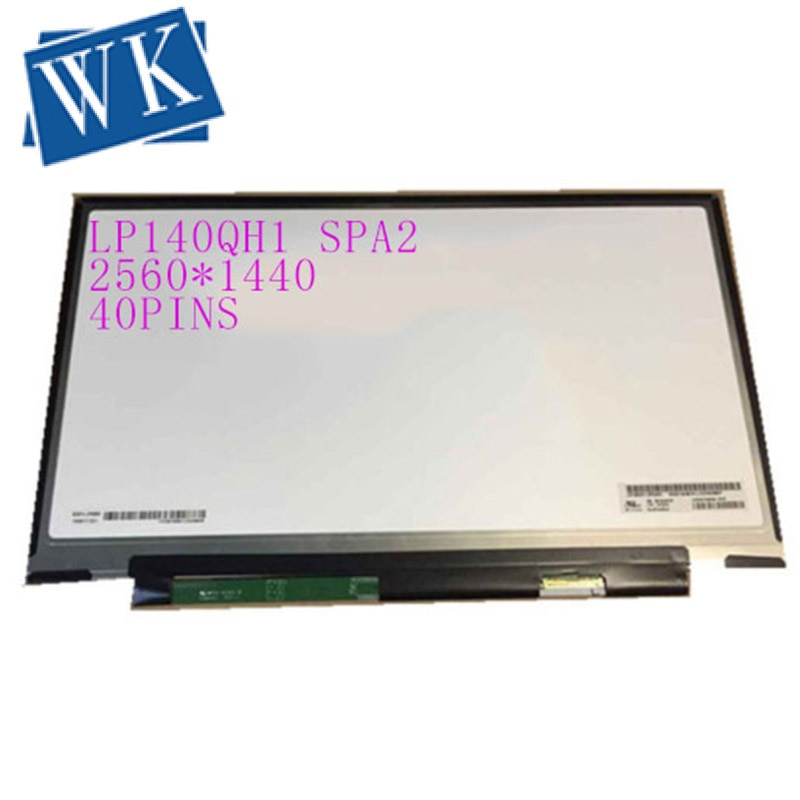 """14.0 """"Slim laptop tela led Para Lenovo X1 Carbono LP140QH1 40 SPA2 2560*1440 tela led sem furo pinos"""