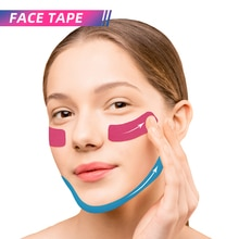 Kinesiology Tape for Face Beauty and Health Tape for Women Lady Face Lift Up Tape and Wrinkles Reduc