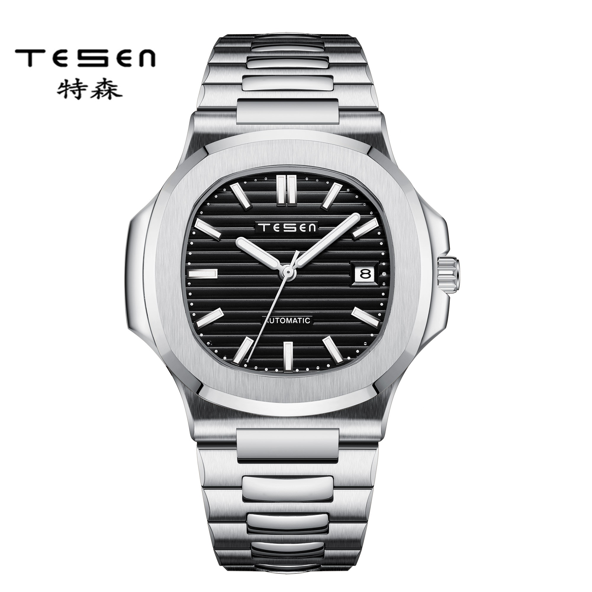 2021 New Fashion Men's Watch Stainless Steel Top Brand Luxury Waterproof Sports Chronograph Automatic Mechanical Men's Relogio enlarge