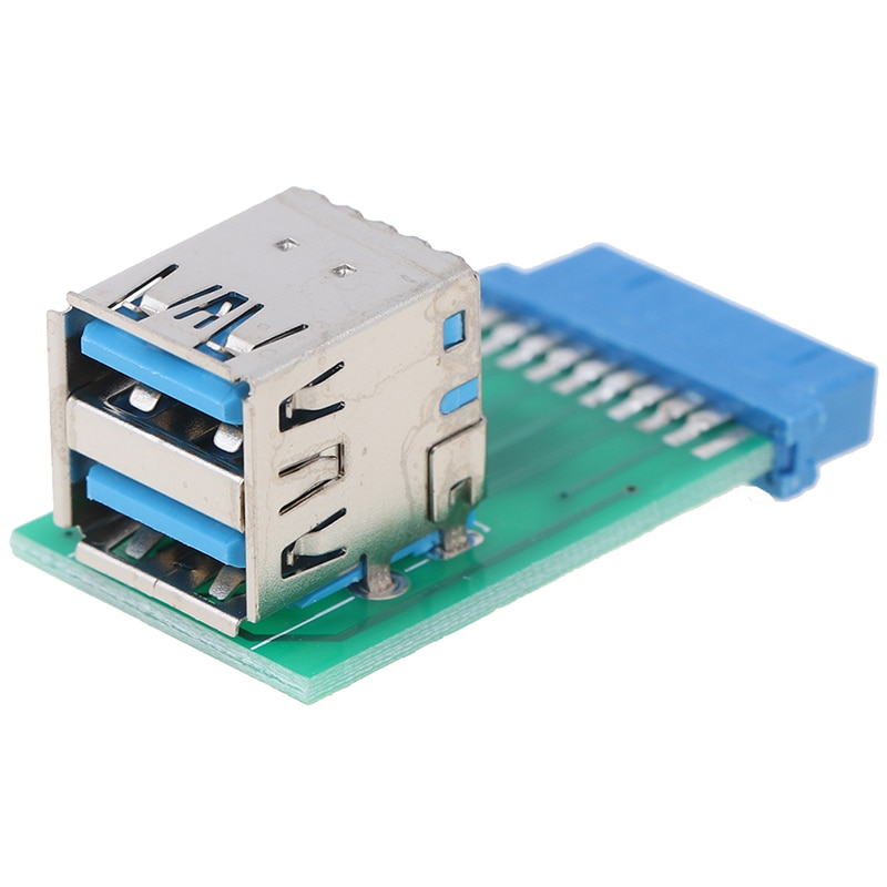 Universal Motherboard 19 Pin Header To 2 Ports USB 3.0 Type A Female Port HUB Adapter PC Computer