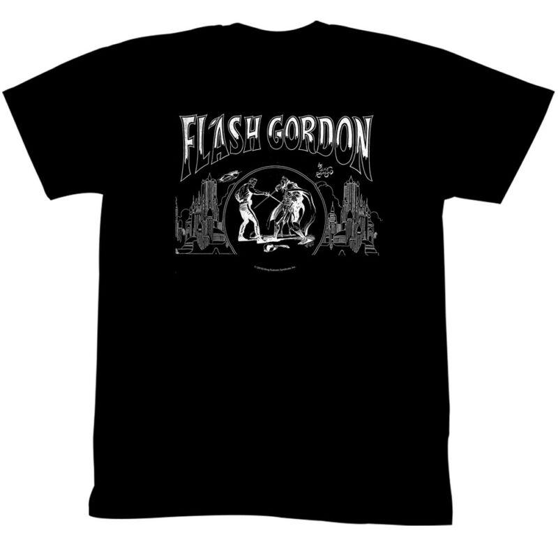 Flash Gordon T-Shirt City Black Tee