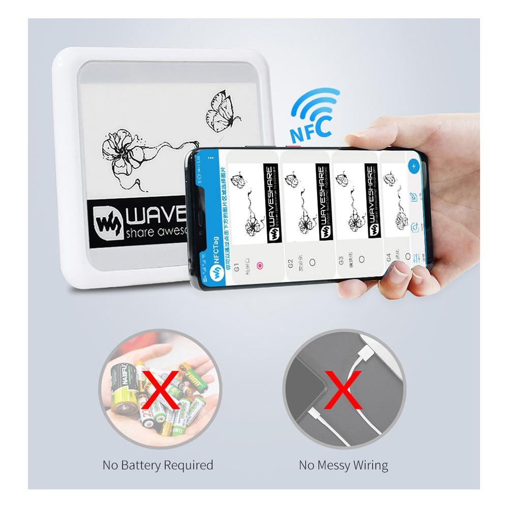 4.2 بوصة لاسلكية NFC بالطاقة الإلكترونية ورقة E-lnk وحدة شاشة عرض ل IOS أندرويد APP ، لا بطارية E-Paper