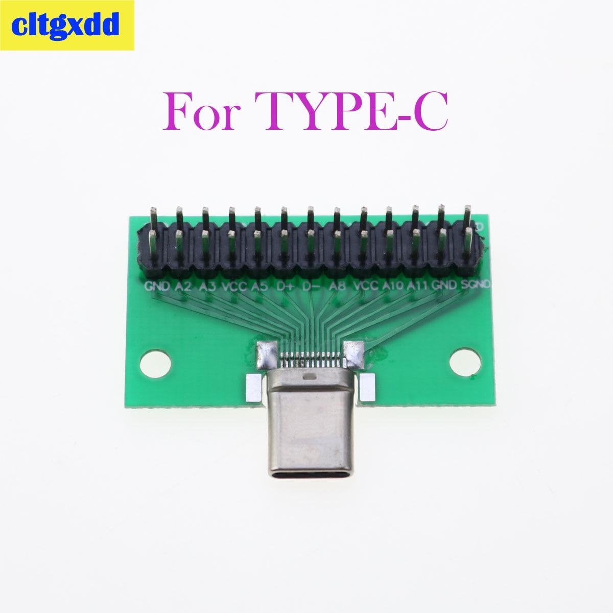 Cltgxdd 1 Uds Tipo-C macho a USB 3,1 prueba adaptador de placa...