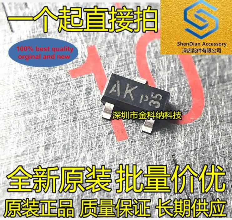 50 peças 100% orignal nova tela de seda ak akp bcx70k trans npn 45 v 0.1a sot23 transistor em estoque