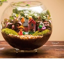 Vaso de pesca para aquário, vaso decorativo para aquário, plantas com flores, pote redondo