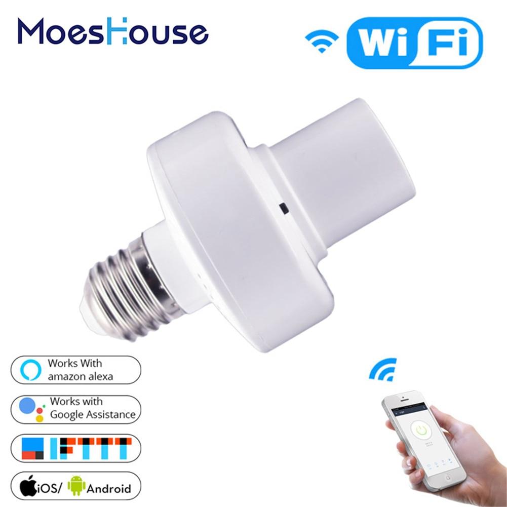 WiFi умный светильник, адаптер, держатель лампы, база, AC Smart Life/Tuya, беспроводное Голосовое управление с Alexa Google Home E27 E26 85-265 в