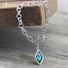Anslow coréen mode bijoux tout nouveau Design losange breloques chaîne Bracelets pour femme filles amour Couple cadeau de mariage LOW0788LB