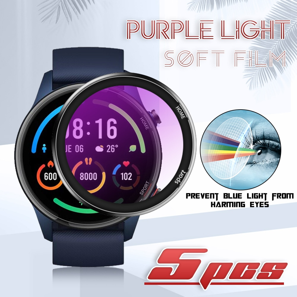 Anti-blue light Curved Soft Screen Protector Film For Xiaomi Color Sports Edition Smart Watch Full Cover Protective (Not Glass) transparent screen protector for xiaomi smart sports watch