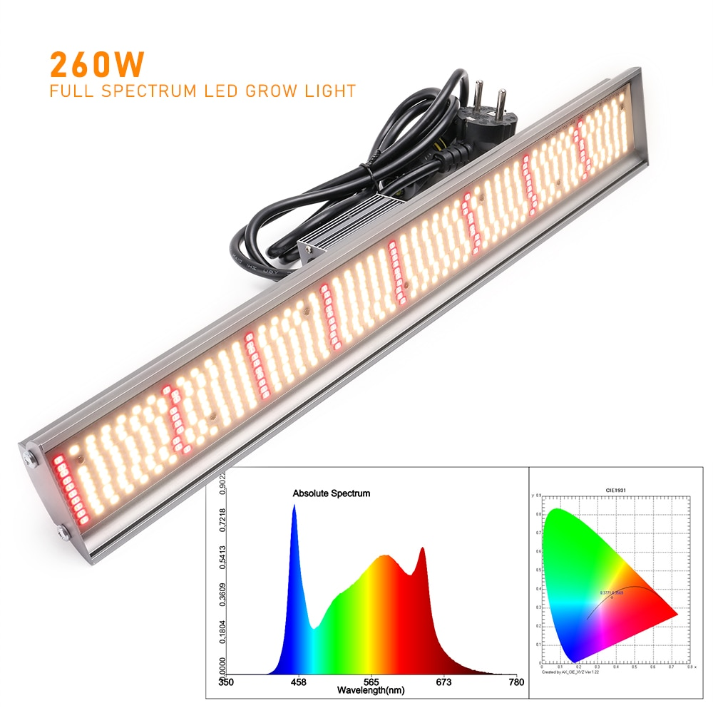 LVJING Full Spectrum 260W Led Grow Light Lampada Led For Indoor Plants Hydroponices Greenhouse enlarge
