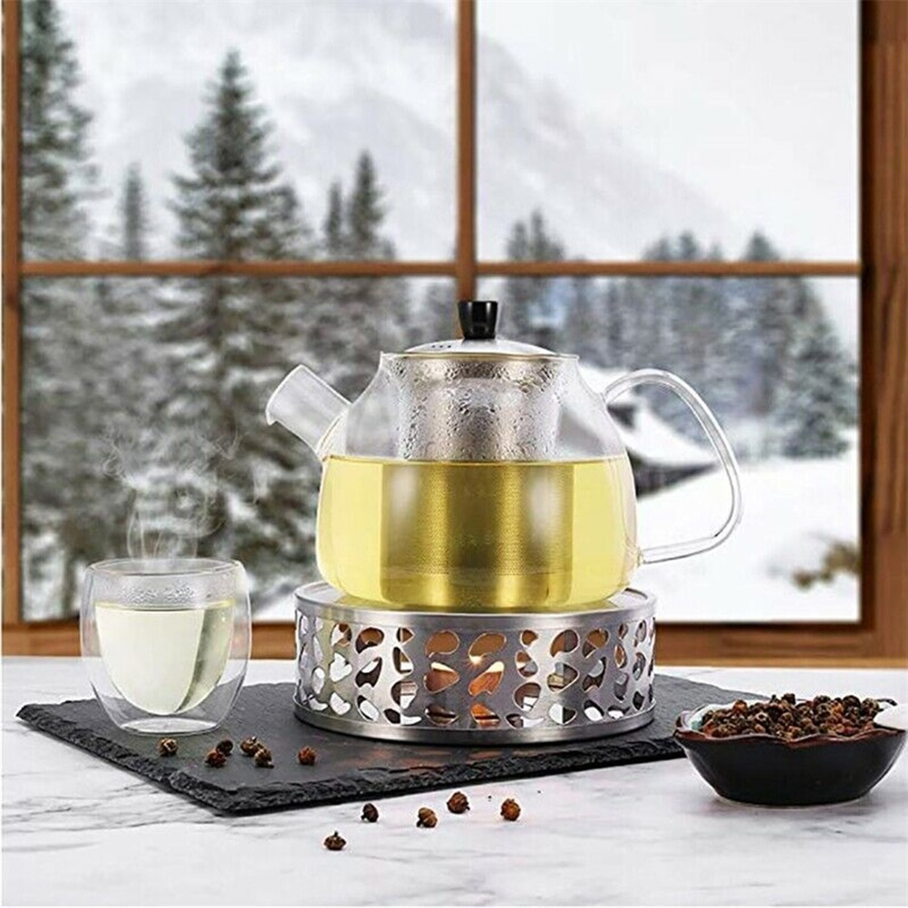 1PC and Durable Stainless Steel Tea Warmer with Tea Light Holder for Tea and Coffee Pots  - buy with discount