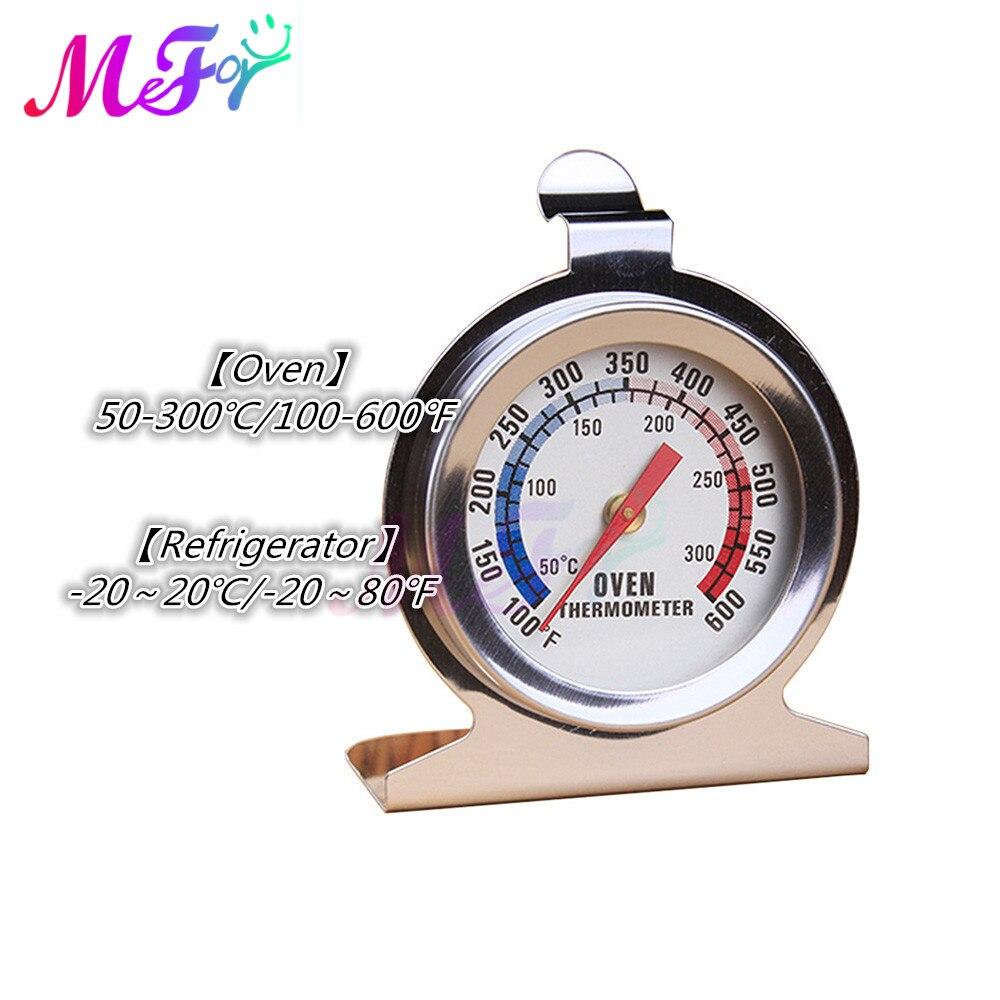 Termómetro metálico de acero inoxidable para horno, termómetro para barbacoa, carne, comida, cocina, termómetros de frigorífico, medidor de carne de pie