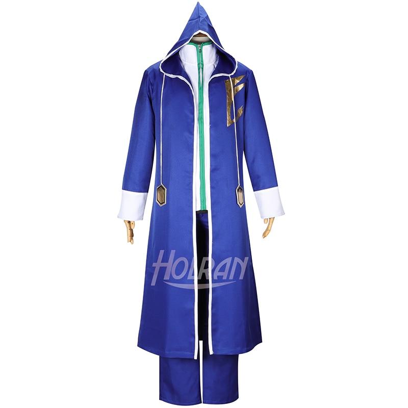 Высокий-Q унисекс аниме Cos Сказочный хвост джеллал Фернандес Косплей Костюм плащ пальто платья брюки униформа набор