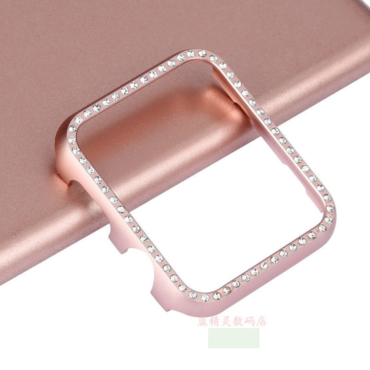 AliExpress - For Apple watch band cover Diamond 42/38/40 44 series4/3/2/1 Aluminum alloy Frame bumper For iwatch se 6 5 case protective shell