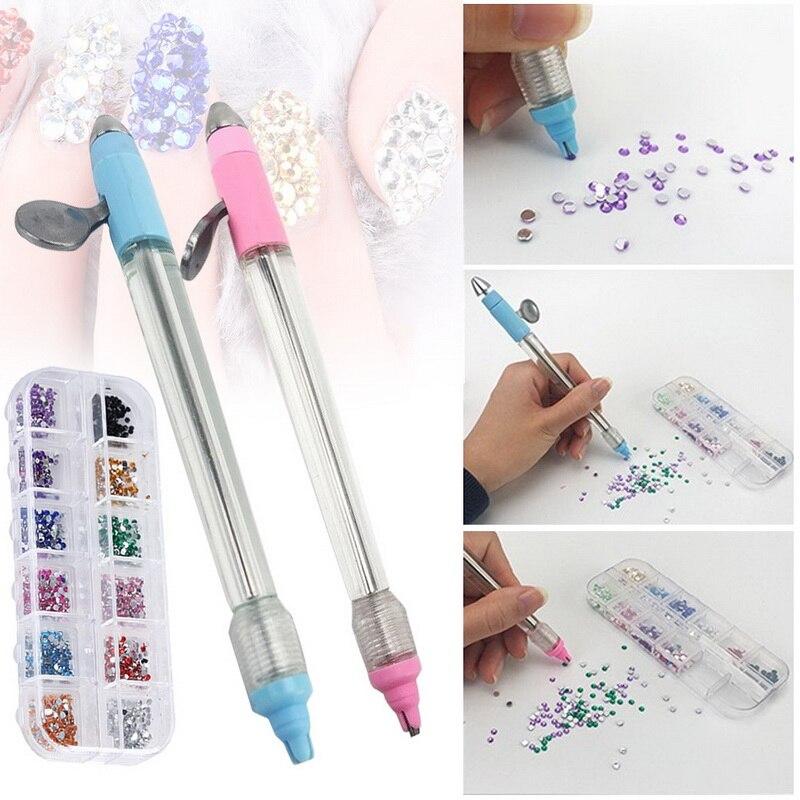 Juego de bolígrafos para pintar con diamantes 5D, accesorios de bordado redondos, herramientas de pintura de diamantes DIY, herramientas decorativas