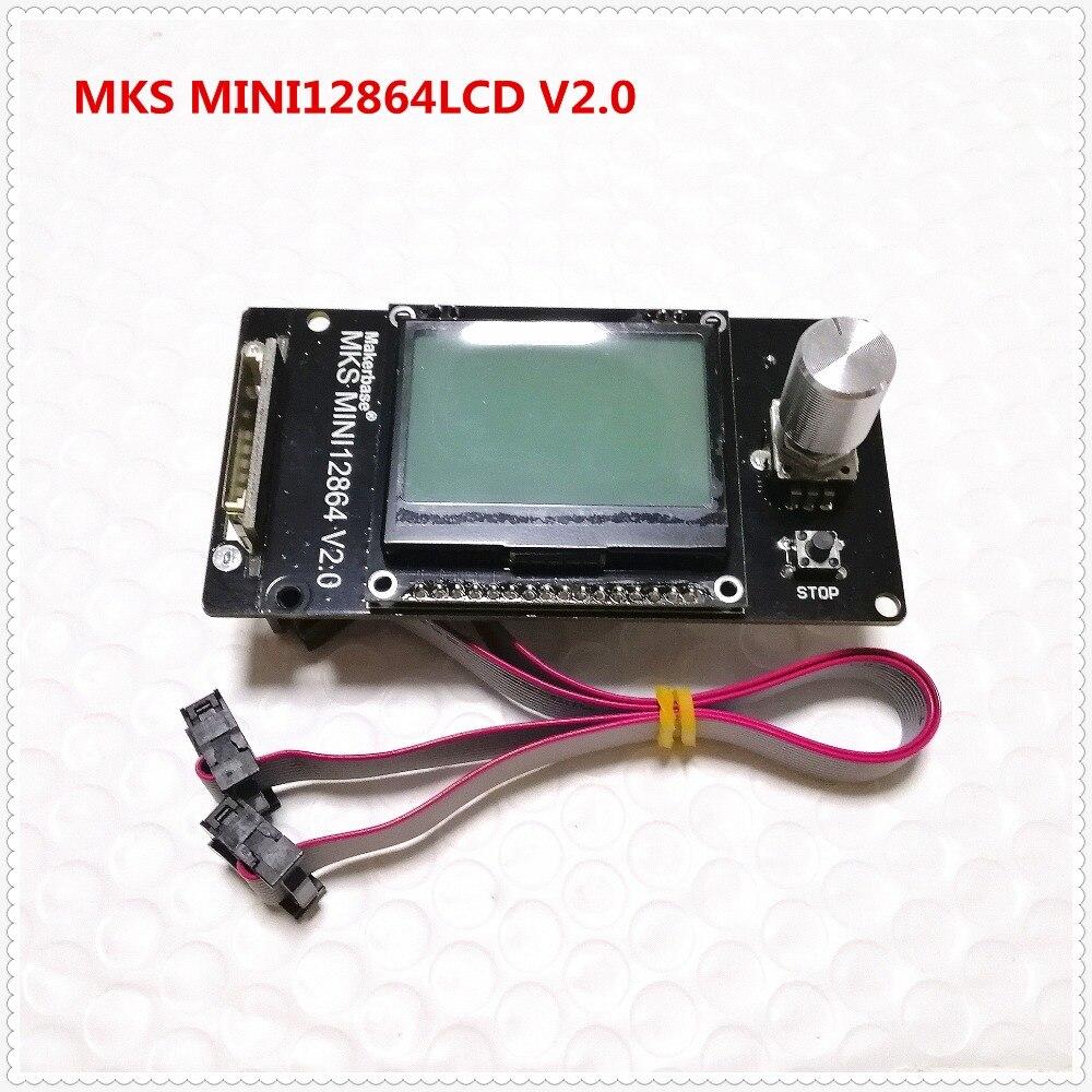 Makerbase MKS MINI12864LCD v2.0 RepRap 12864 GLCD Pantalla de cristal líquido mini lcd12864 controlador de pantalla 3d impresora LCD suministros