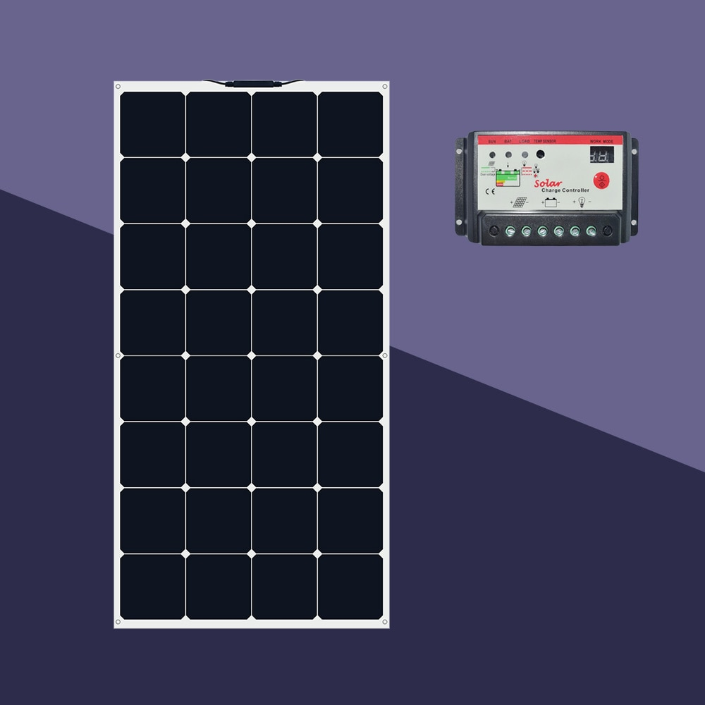 BOGUANG 10W 60W 100W solar panel 18v system kit PV module  cell charge for light 12v battery