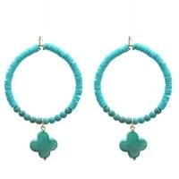 pendientes four leaf clover pendant crystal earrings polymer clay earring drop trend women earrings bohemian jewelry dangle ear
